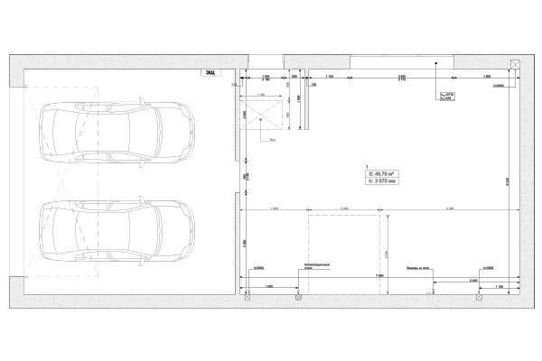 План обмера помещения